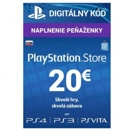 PlayStation Live Cards 20 EUR Hang pro SK PS Store