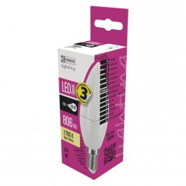 LED CLS CANDLE 8W(60W) 806lm E14 WW