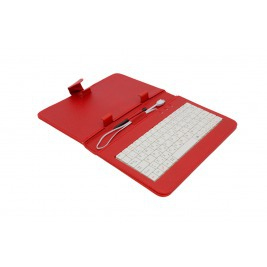 """AIREN AiTab Leather Case 1 with USB Keyboard 7"""" RED (CZ/SK/DE/UK/US.. layout)"""