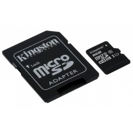8GB microSDHC Kingston UHS-I Industrial Temp + SD adapter